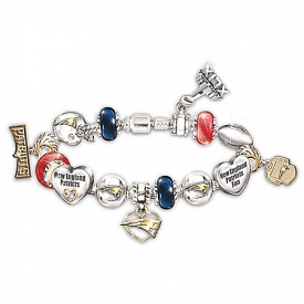 #1 Fan New England Patriots Super Bowl XLIX Champions Charm Bracelet