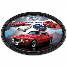 American Muscle: Ford Mustang Collector Plate With Personalized License Plate