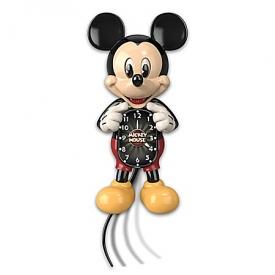 Disney Mickey Mouse Moving Eyes Wall Clock