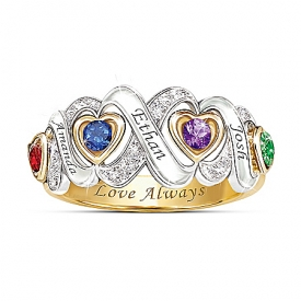 Always My Family Personalized Mothers Ring
