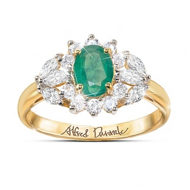 Alfred Durante Gardens Of Versailles Emerald And White Topaz Ring