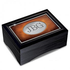 Grandson's Personalized Keepsake Box With Encouraging Sentiment