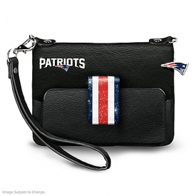NFL-Licensed New England Patriots Pat City Chic Mini Handbag