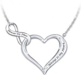 Always & Forever My Niece Engraved Heart Necklace