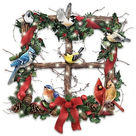 Merry Woodland Melodies Christmas Wreath