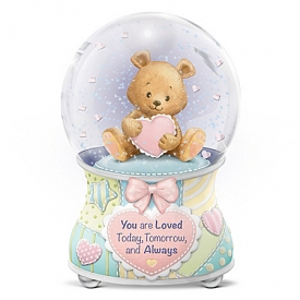 Precious Baby, You Are Loved Musical Glitter Globe