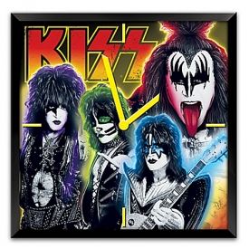 KISS Time To Rock Musical Light Up Wall Clock