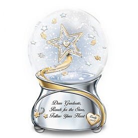 Dear Graduate, Reach For The Stars Personalized Musical Glitter Globe