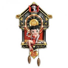 Betty Boop Hand-Painted Cuckoo Clock
