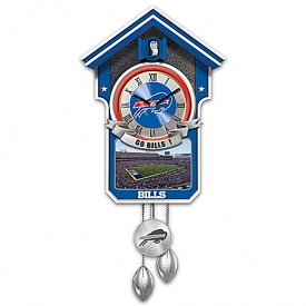 Buffalo Bills NFL Cuckoo Clock With Game Day Image