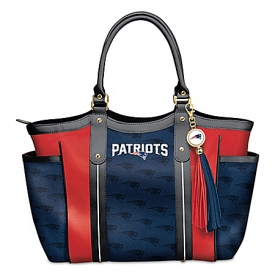 Touchdown New England Patriots! Officially Licensed NFL Tote Bag