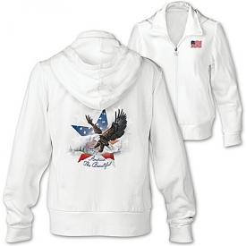 America The Beautiful Patriotic Women's Hoodie