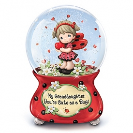 Precious Moments My Granddaughter, You're Cute As A Bug Musical Glitter Globe