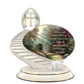 Thomas Kinkade Loving Remembrance Porcelain Candle Holder