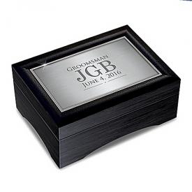Men's Personalized Valet Keepsake Box