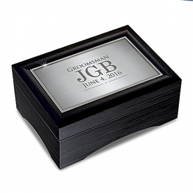 Men's Personalized Valet Keepsake Box