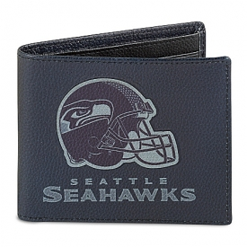 NFL Seattle Seahawks Men's RFID Blocking Leather Wallet