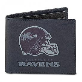 NFL Baltimore Ravens Men's RFID Blocking Leather Wallet