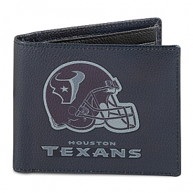 NFL Houston Texans Men's RFID Blocking Leather Wallet