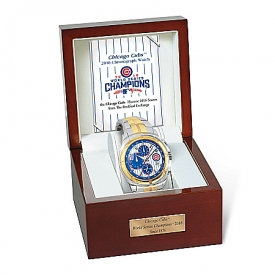 2016 World Series Champions Chicago Cubs Stainless Steel Men's Watch