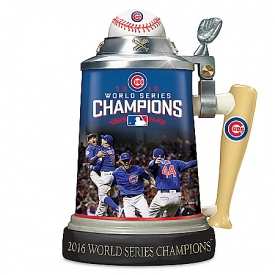 Chicago Cubs 2016 World Series Commemorative Stein With Game Images