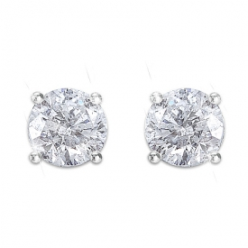 Brilliant Elegance Diamond Stud Women's Earrings
