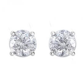 Brilliant Elegance Diamond Stud Women's Earrings