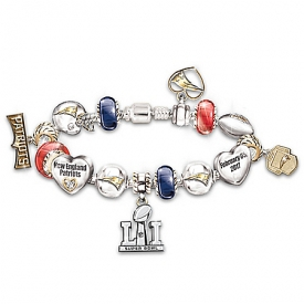 #1 Fan New England Patriots NFL Super Bowl LI Champions Bracelet