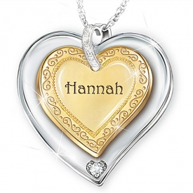 A Granddaughter Is Forever Heart-Shaped Personalized Pendant Necklace
