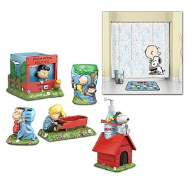 PEANUTS The Gang's All Here Heirloom Porcelain Bath Accessories Set