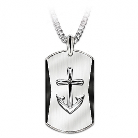 Anchored In Faith Men's Pendant Necklace For Son