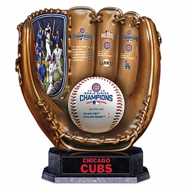 2016 World Series Champions Chicago Cubs Baseball Glove Sculpture