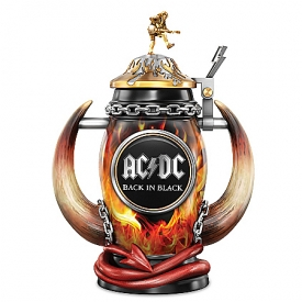 AC/DC Back In Black Red Hot Rock Tribute Stein