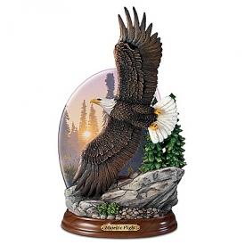 Al Agnew Majestic Flight Illuminated Eagle Sculpture