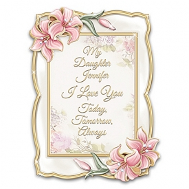 Daughter, I Love You Heirloom Porcelain Personalized Frame