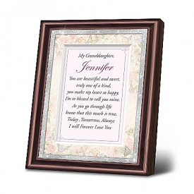 Granddaughter, I Love You Personalized Mahogany-Finished Picture Frame