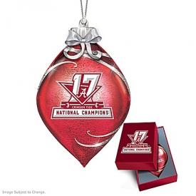 Alabama Crimson Tide 2017 Football National Champions Glass Ornament