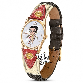 Betty Boop Women's Mother-Of-Pearl Watch