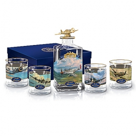 America's Freedom Flyers Glass Decanter Set