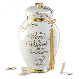 Words Of Wisdom For My Graduate Heirloom Porcelain Musical Wish Jar