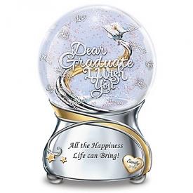 Graduate, I Wish You Personalized Musical Glitter Globe