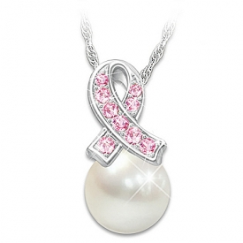 Beauty Of Hope Women's Genuine Cultured Freshwater Pearl Pendant Necklace