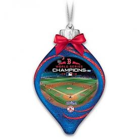 Boston Red Sox 2018 MLB World Series Champions Illuminated Glass Ornament