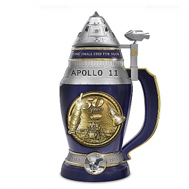 Apollo 11 50th Anniversary Heirloom Porcelain Sculpted Masterpiece Stein