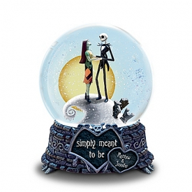 Disney Tim Burton's The Nightmare Before Christmas Simply Meant To Be Personalized Snowglobe