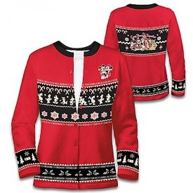 Disney Christmas Women's Soft Poly Knit Cardigan