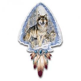 Al Agnew Mystic Spirit Illuminated Wolf Art Wall Decor