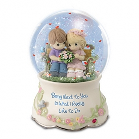 Precious Moments Our Love Is Always Musical Glitter Globe