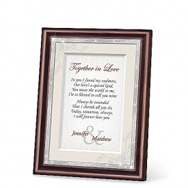 Together In Love Personalized Framed Wall Decor