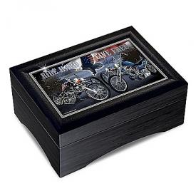 Motor Marc Lacourciere Ride Hard, Live Free Wooden Keepsake Box